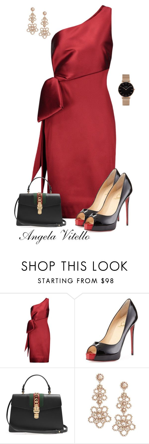 """Untitled #931"" by angela-vitello on Polyvore featuring NOIR Sachin + Babi, Christian Louboutin, Gucci, Kate Spade and CLUSE"
