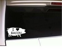 I Coronary heart Bacon 6″ Vinyl Sticker Decal Wall Automotive Laptop computer Humorous Pig Farming Farm Bacon Lover Pork Farmer Animals Pets Prepare dinner Chef Cater Meals (Purchase 2 Get 1 Further Free)