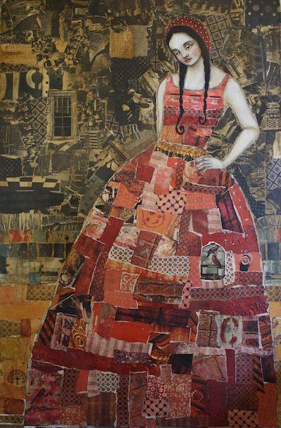 Large Grungy Portrait Collage | Jane DesRosier