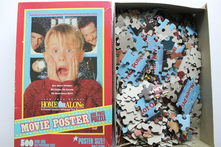 Vintage Milton Bradley Home Alone Movie Poster Jigsaw Puzzle 1991 by WylieOwlVintage on Etsy