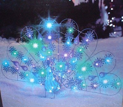 new sparkle led light show peacock lawn decor christmas yard display