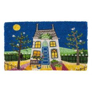 Coir doormat in the design Solskenshus