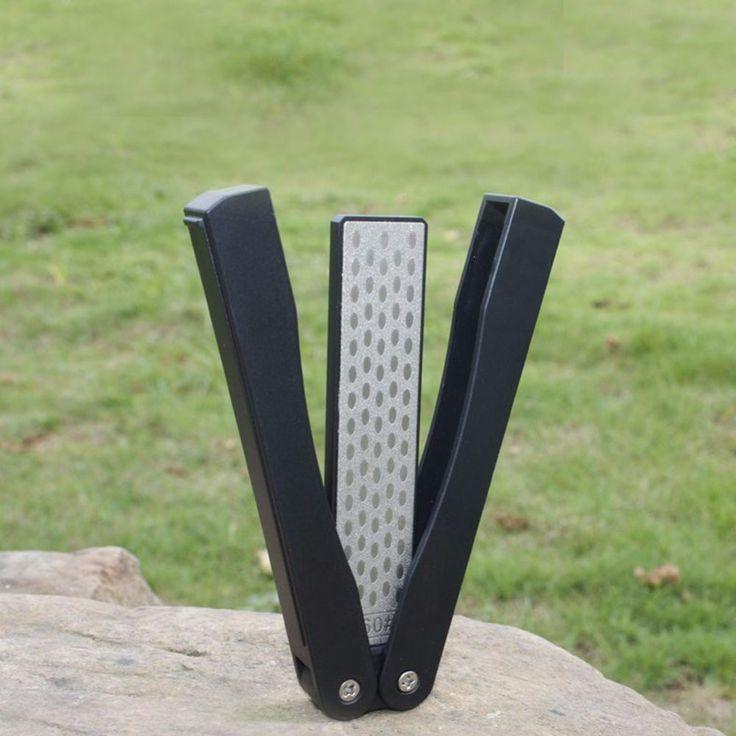 Unggul pisau Berlian pengasah Batu Untuk Berkemah Ganda Sisi Dilipat Pocket knife whetstone asah batu