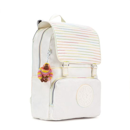 Washington Coated Laptop Backpack - Lacquer Pearl | Kipling