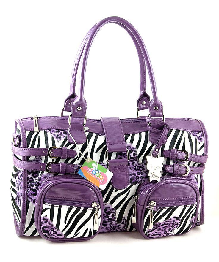 Zebra Diaper Bags for Girls | Purple Zebrax Diaper Bag | Daily deals for moms, babies and kids