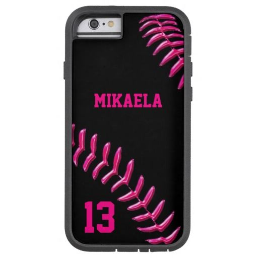Custom Softball iPhone 6 Cases with YOUR TEXT Tough Xtreme iPhone 6 Case
