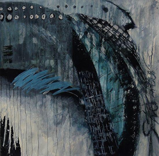Mystical Rhythms by Sheryl Menton Oil ~ 18 inches x 18 inches
