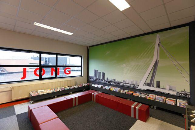 Bibliotheek Inrichting | Bibliotheek Decoratie | Bibliotheek Belettering | Bibliotheek Bewegwijzering
