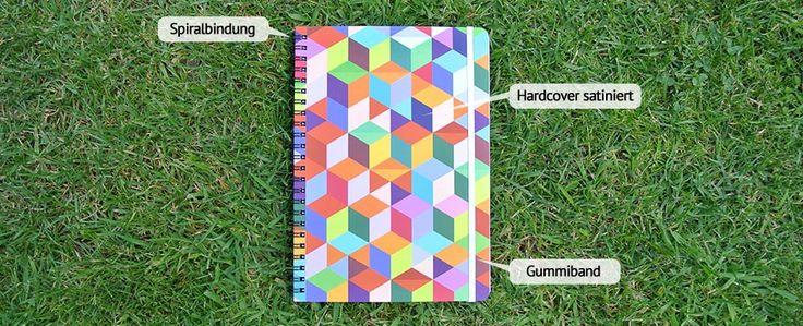 Das Notizbuch Classic mit Hardcover, Spiralbindung und Gummiband