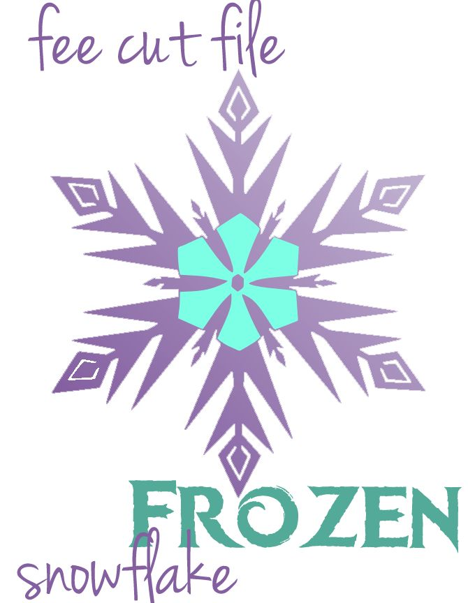 Frozen Birthday Party:  Free Frozen snowflake cut file