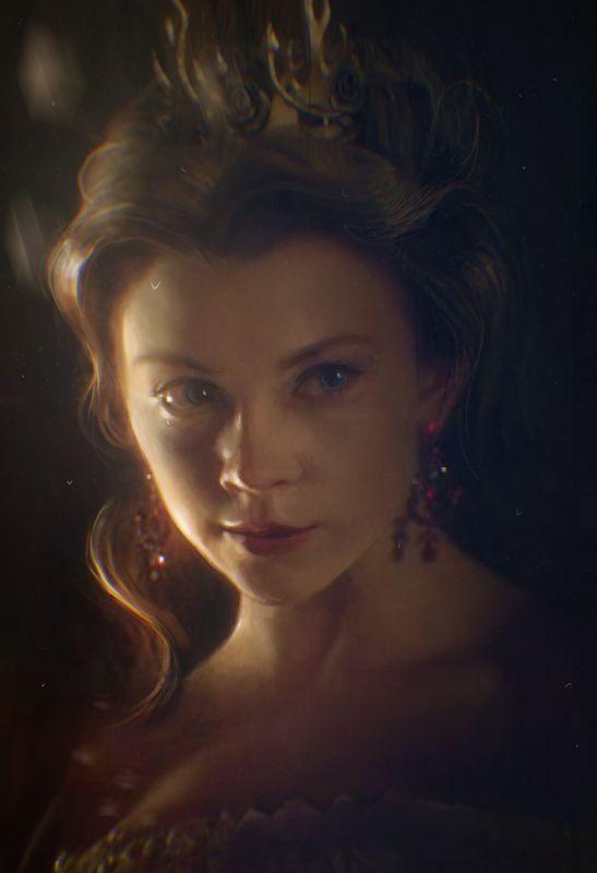 Natalie Dormer as Margaery Tyrell, Game of Thrones fanart. Character © George R. R. Martin FB www.facebook.com/DalisaAnja/