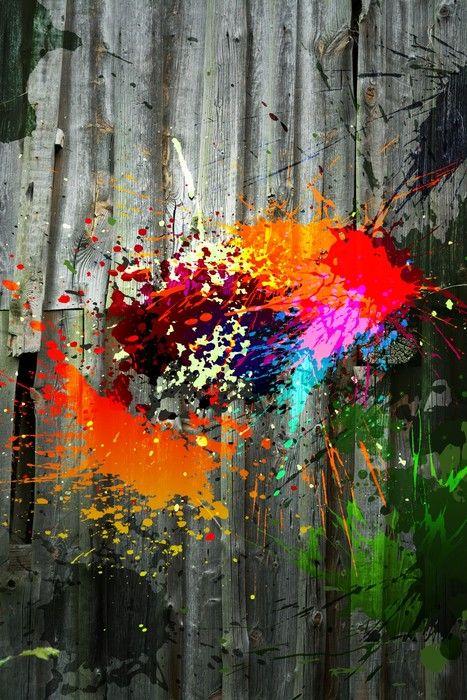 Colourful Urban Painting from $34.99 | www.wallartprints.com.au #ArbanArt #WallArtPrints