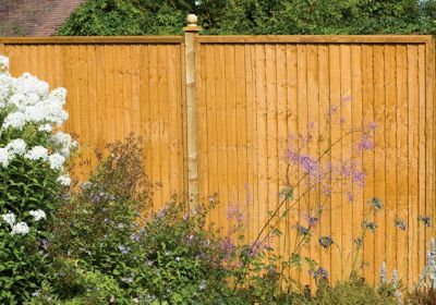 Forest Larchlap Closeboard 1.8m Fence Panel - Pack of 10