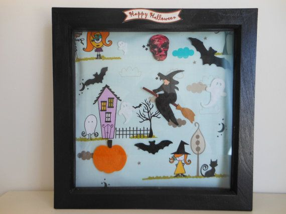Dollhouse Miniature Halloween Ghost Picture Frame 1:12 scale H15  Dollys Gallery