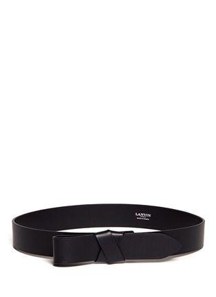LANVIN - Leather bow belt   Black Belts   Womenswear   Lane Crawford