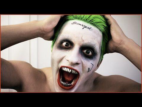 BEST Joker Makeup Tutorial (from Suicide Squad) - Jared Leto - Halloween vlog - YouTube
