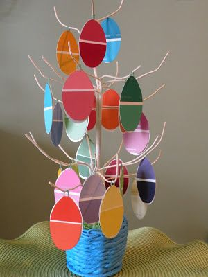 Paint chip Easter Tree