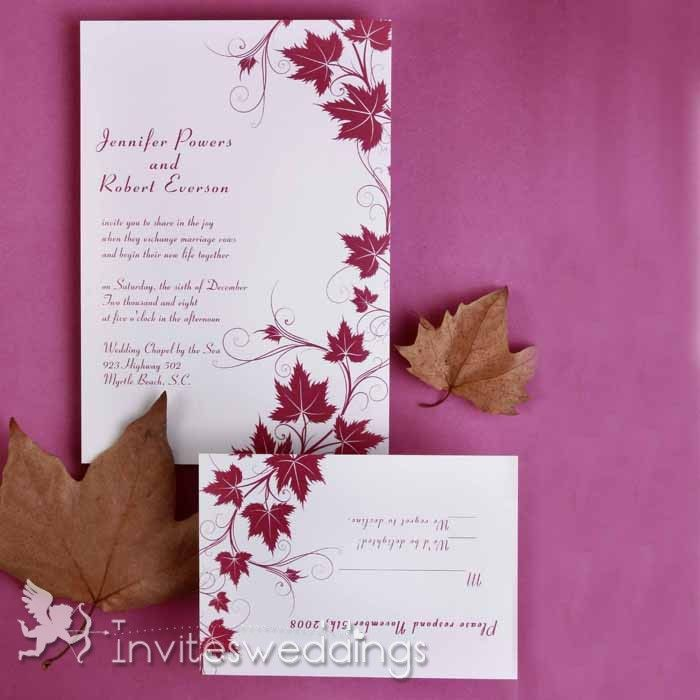 free online wedding invitation sites%0A Brilliant Maple Vine Style Wedding Invitations IWI      Wedding Invitations  Online  InvitesWeddings com