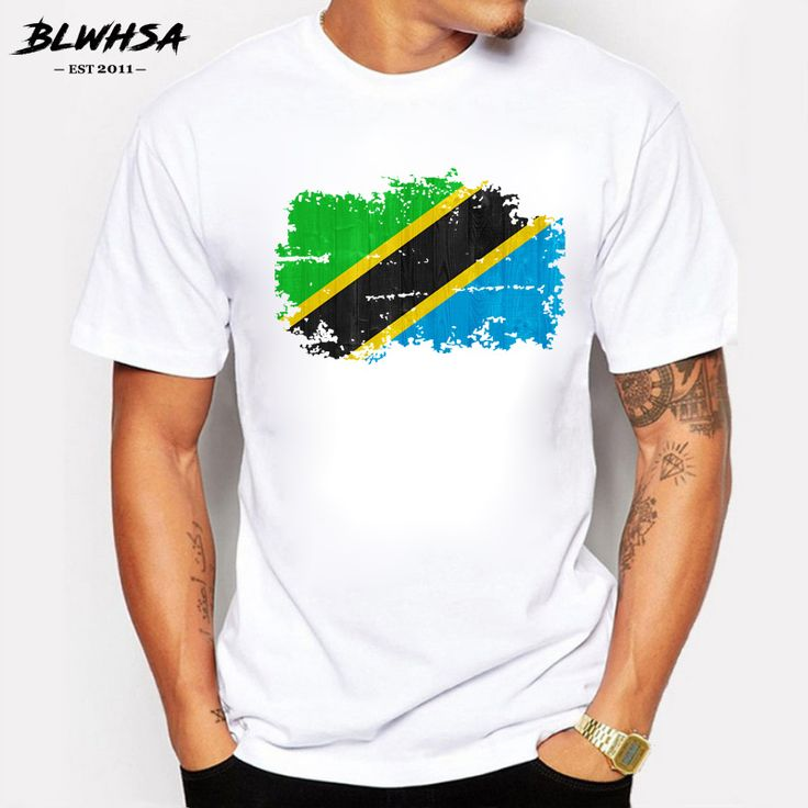 BLWHSA Tanzania T Shirt Man Cotton Nnation Team Meeting Fans T-shirts Fitness Brand Tanzania Country Flag Nostalgic StyleTee #Affiliate