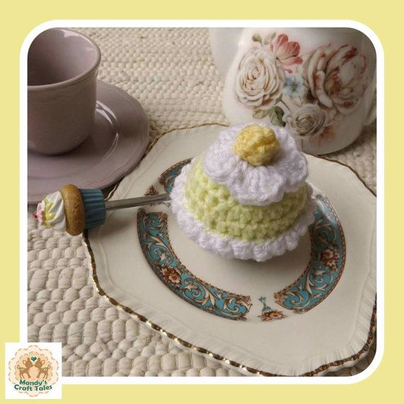 This crochet cupcake is the perfect pretend play item for your little girl.  Perfect for a kids gift.  Crochet Cupcake Faux Cupcake Fake Cupcake Lemon Crochet