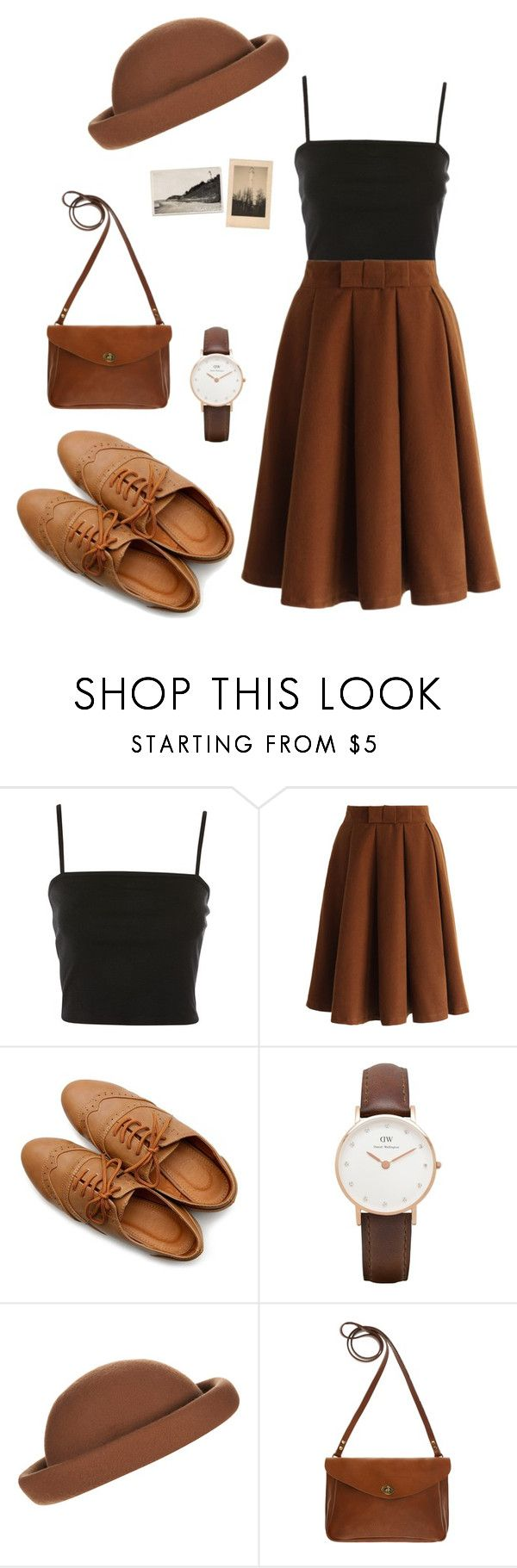 """Casual outfit"" by teraxd ❤ liked on Polyvore featuring Topshop, Chicwish, Ollio, Daniel Wellington and Mimi Berry"
