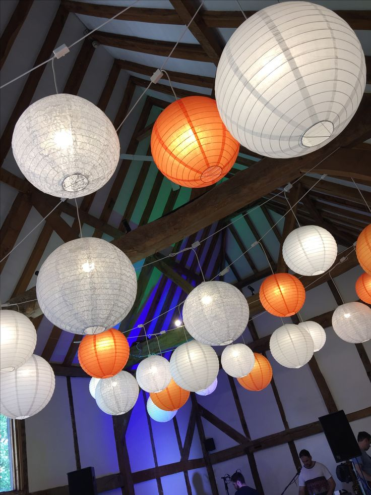 Lanterns in the barn loseley park