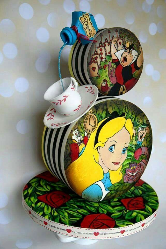Alice in Wonderland gravity cake...