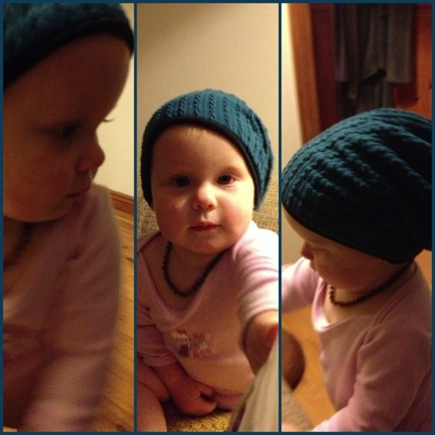 Miss C, rocking one of our Little Mister beanies