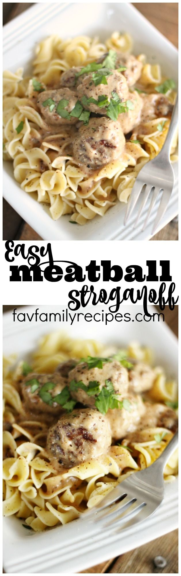 Meatball stroganoff is one of our favorite weeknight dinners. It's an easy family meal that even the kids will love!