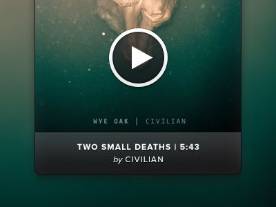 Interesting and very neat media player. #desing #media #ui #player