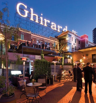 Ghirardelli Square ... though the factory is long gone - lol