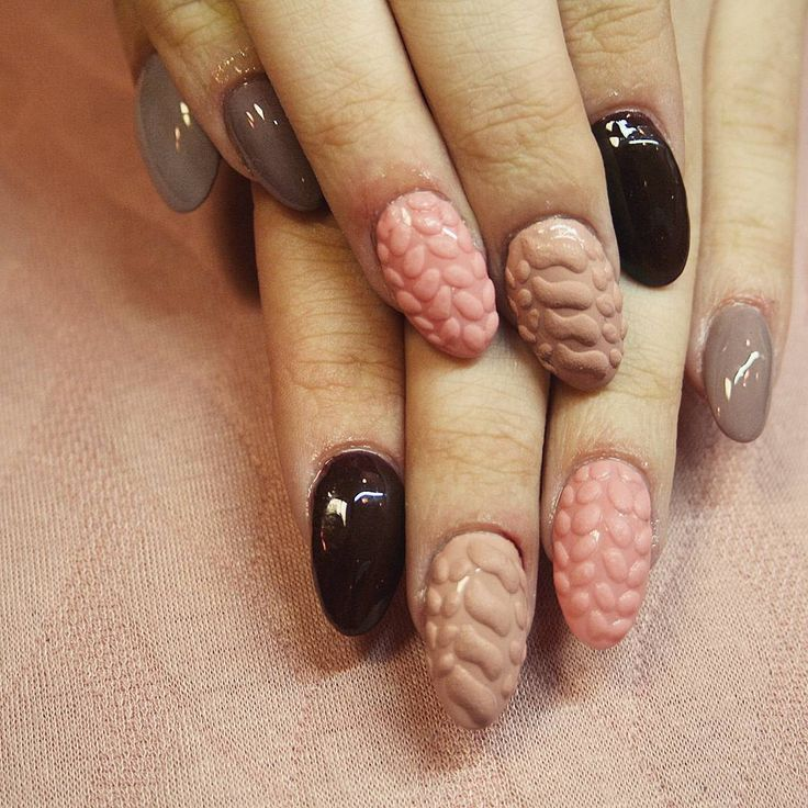 Sweterek, paznokcie hybrydowe, nails #piekniejszaty