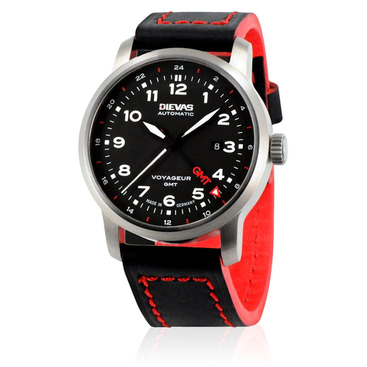 Dievas Watches - Dievas Voyageur GMT - Tailor made for professional pilots is the new dual time zone Voyageur ...