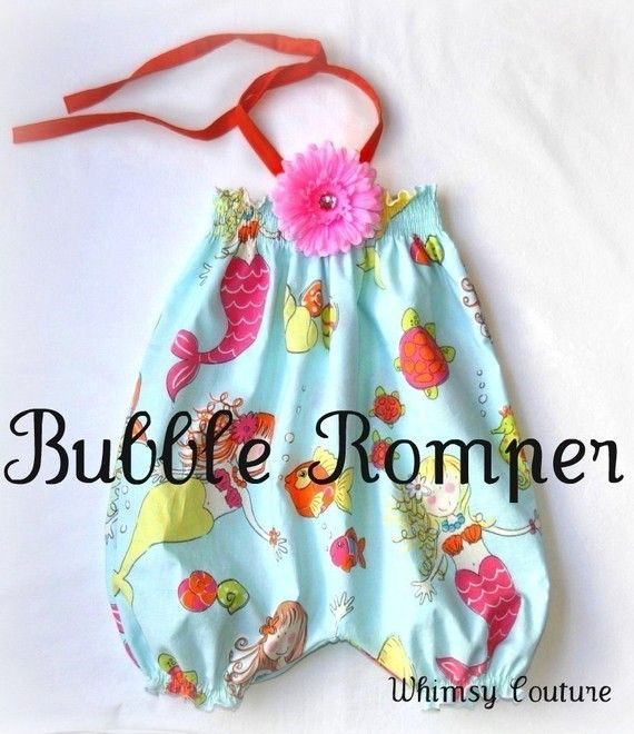 DIY baby romper from pillow cases