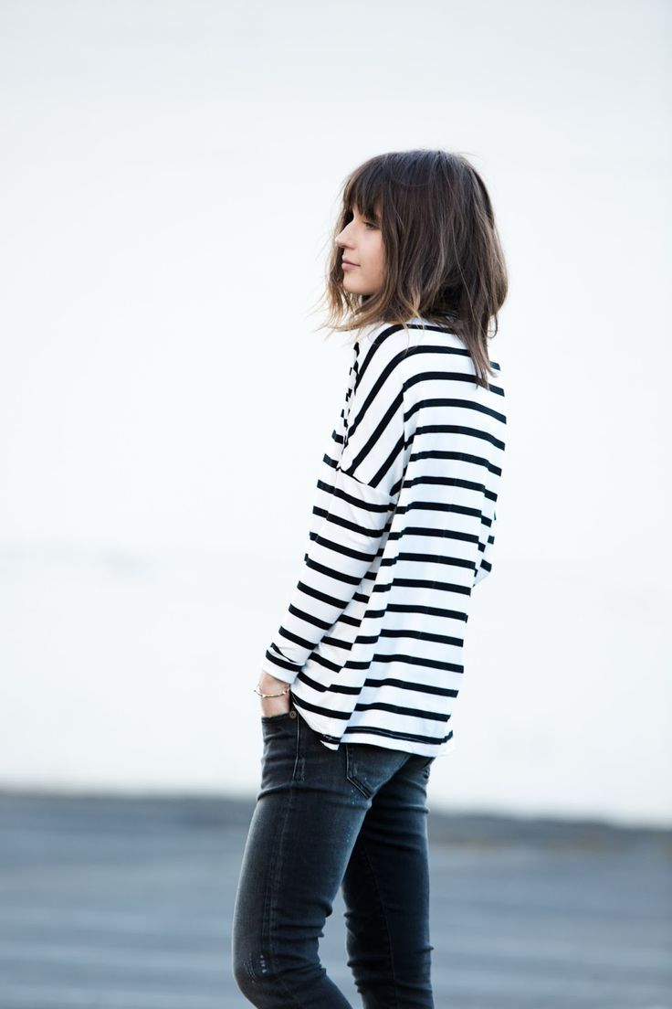 Stripes tops are must have items in any wardrobe. Simple clean style, minimalist fashion, street style