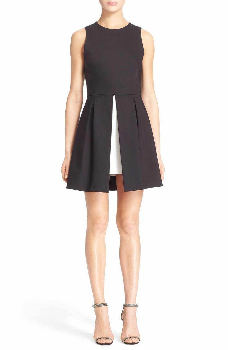 Main Image - Alice + Olivia 'Bria' Peplum Fit & Flare Dress