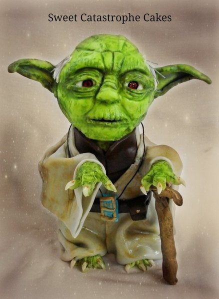 Jedi Master Yoda Cake By Sweet Catastrophe Cakes My
