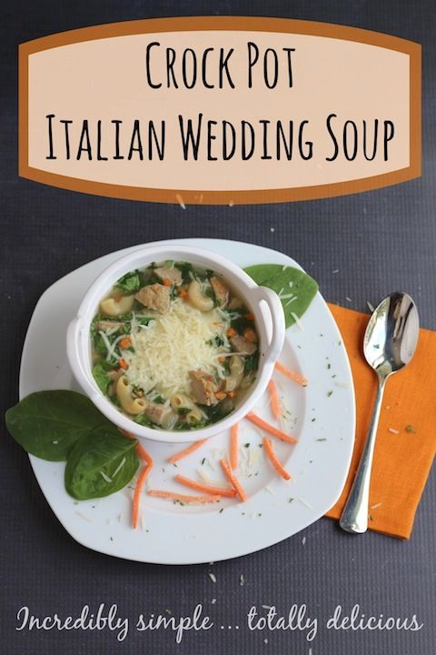 This delicious, hearty Italian Wedding Soup is so quick and easy to make … in your slow cooker! Your whole family will love it! Bonus (besides how easy it is in the crock pot!): it's loaded with simple, healthy ingredients!