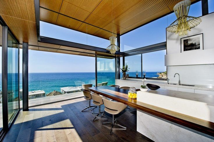 Allegretto Ritmico Suspension by FoscariniRolf Ockert, Beach House, Dreams House, Modern House Interiors, House Architecture, Bronte House, Modern Kitchens, Ocean View, Ockert Design