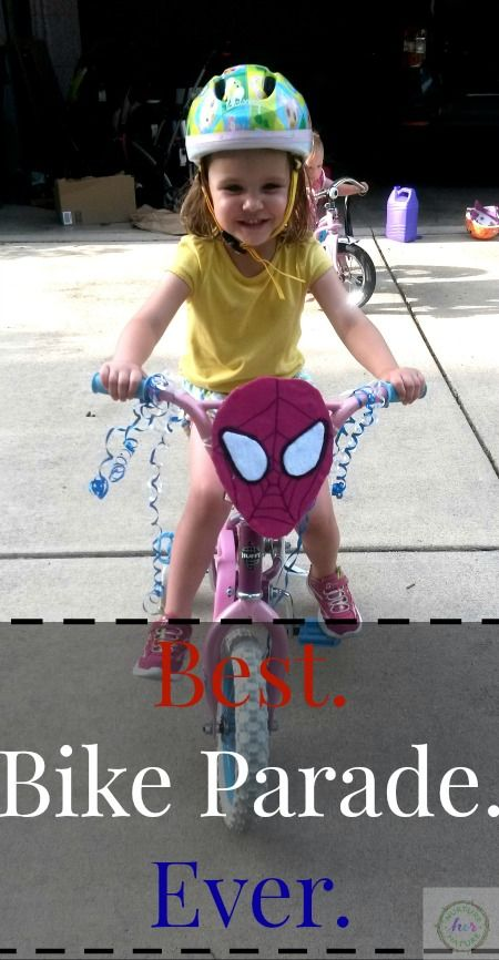 Transforming your child's bike into a parade float is easy and the perfect way to celebrate the Memorial Day weekend or 4th of July with the kids or the whole neighborhood! - Nurture Her Nature