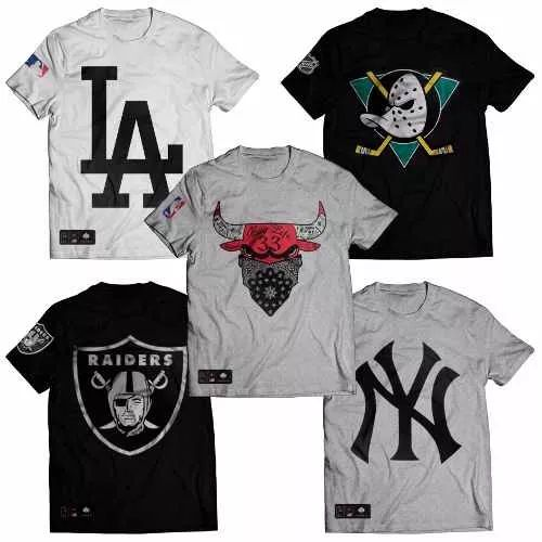 Camisa Camisetas Bulls Raiders Ny La Patos Brooklyn 86 Swag - R  36 ... da196967e41