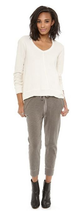 Wilt Crop Slub Jersey Sweatpants. #fashion #sweatpants
