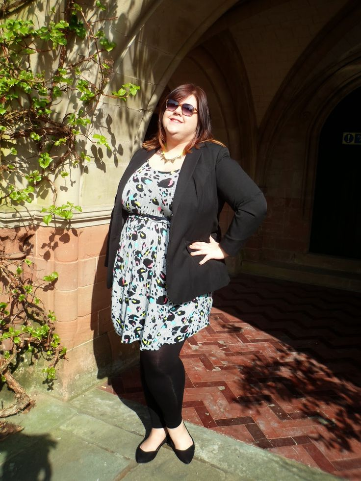 Simply Be tall range blazer with @ASDA dress for a lunch with mum <3