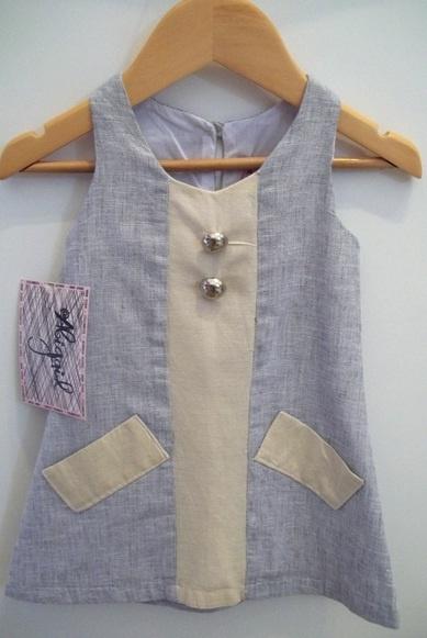 Abigail childrenswear Linen Dress