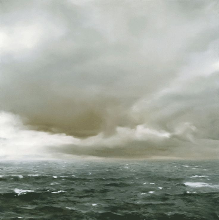 Gerhard Richter, Seascape (Cloudy), 1969, oil on canvas