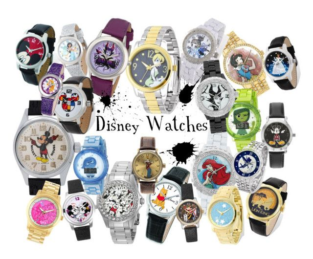 """Disney Watches"" by sugarsop on Polyvore featuring Disney, Invicta, disney and watches"