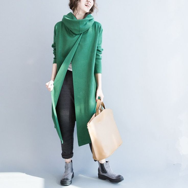 Women long sleeve Irregular sweater - Buykud - 2