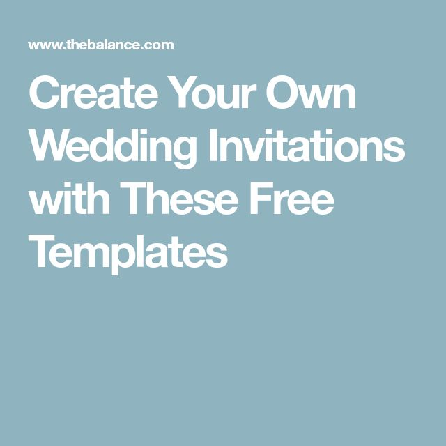 Wedding Invitation Creator Free: Best 25+ Free Wedding Templates Ideas On Pinterest