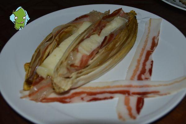 Belga con Pancetta e Pecorino - Belga with Bacon and Pecorino cheese