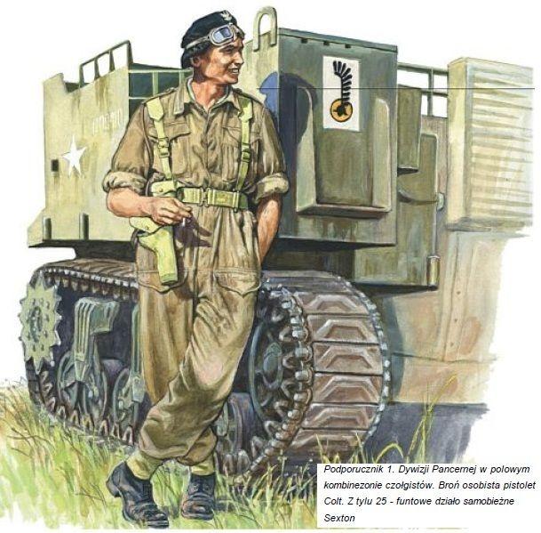 Esercito Polacco - Sottotenente della 1. Divisione Corazzata